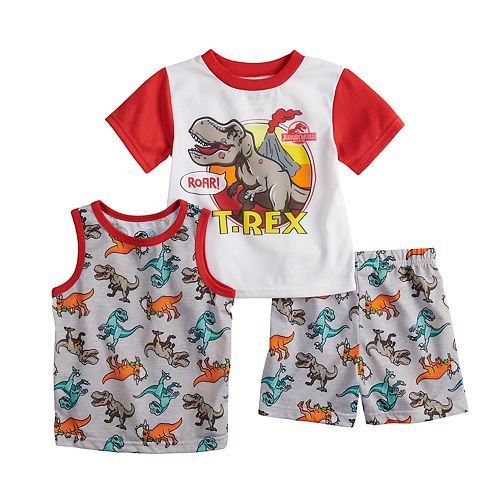Toddler Boy Jurassic World Tops & Shorts Pajama Set