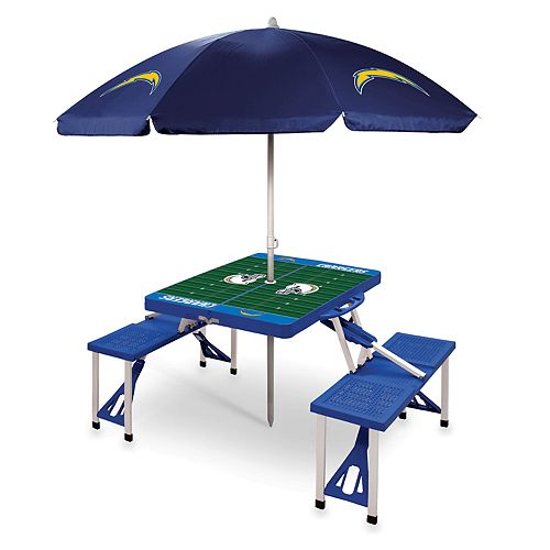 Los AngelesChargers Portable Sports Field Picnic Table