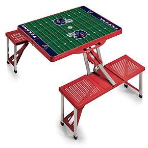 Houston Texans Portable Sports Field Picnic Table