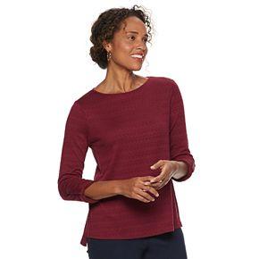 Women's Dana Buchman Textured Roll-Tab Top