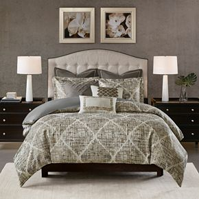 Madison Park Signature Plateau Jacquard Comforter Set
