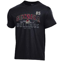 Men's Champion Georgia Bulldogs Number Tee
