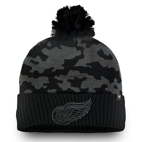 Adult Detroit Red Wings Camo Beanie