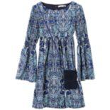 Girls 7-16 & Plus Size Speechless Smocked Bell Sleeve Dress