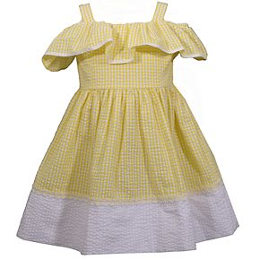 Toddler Girl Bonnie Jean Cold-Shoulder Seersucker Dress