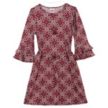Girls 7-16 & Plus Size Speechless Double Ruffle Bell Sleeve Dress