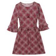 Girls 7-16 & Plus Size Speechless Double Ruffle Bell Sleeve Dress