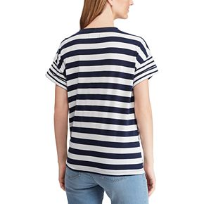 Women's Chaps Nautical Side-Tie Tee
