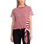 Women's Chaps Nautical Side-Tie Tee
