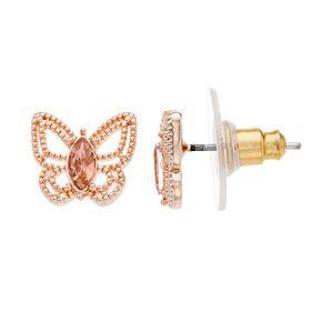 LC Lauren Conrad Filigree Butterfly Nickel Free Stud Earrings