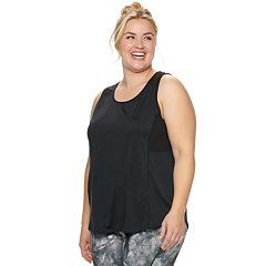 Plus Size Tek Gear® Mesh Panel Performance Tank