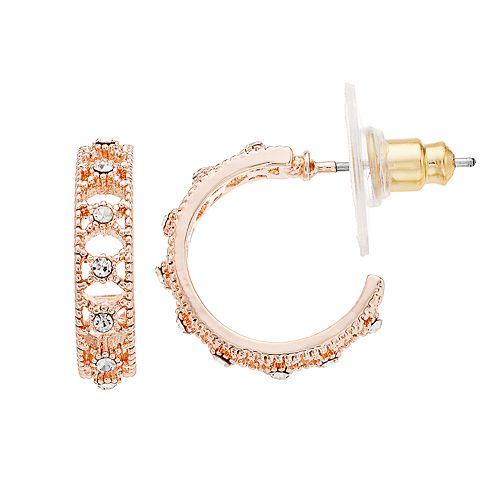 LC Lauren Conrad Filigree Nickel Free Hoop Earrings