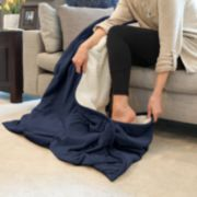 Dream On Velvet & Sherpa Foot Pocket Throw