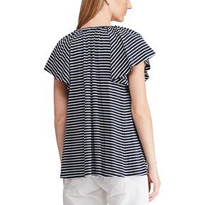 Women's Chaps Striped Splitneck Top