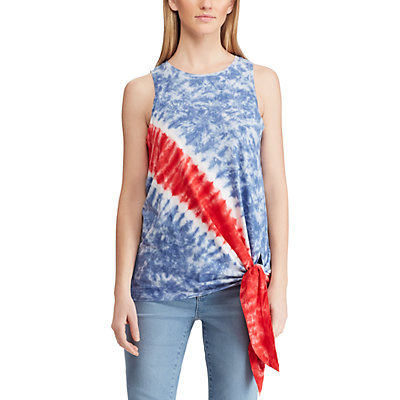 Women's Chaps Side-Tie Patriotic Tank