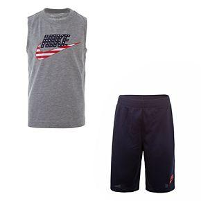 Boys 4-7 Nike Americana Muscle Tee & Shorts Set