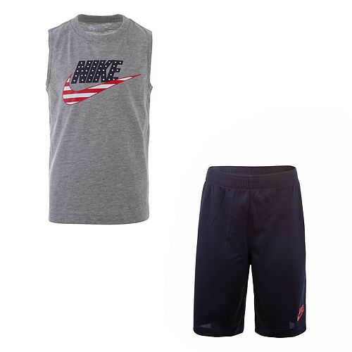 Boys 4-7 Nike Americana Muscle Tee & Shorts Set