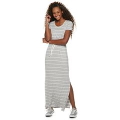 Juniors' SO® Tie Waist Striped Maxi Dress
