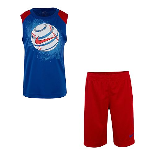 Boys 4-7 Nike Baseball Muscle Tee & Shorts Set