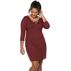 Juniors' Plus Size AS U WISH Knit Bodycon Dress