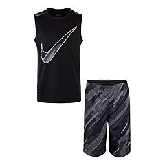 Boys 4-7 Nike Dri-FIT Muscle Tee & Abstract Shorts Set