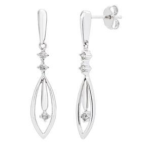 Sterling Silver 1/6 Carat T.W. Diamond Drop Earrings