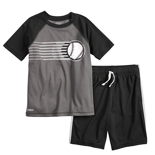 34690774f1c8c Boys 4-12 Jumping Beans® Playcool Raglan Tee & Athletic Shorts Set