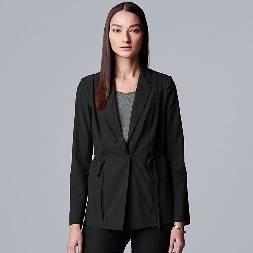 Women's Every Day Movement Simply Vera Vera Wang Everyday Drawstring Blazer