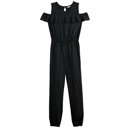 Girls 7-16 Joey B Cold Shoulder Ruffled Jumpsuit