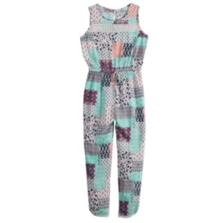 Girls 7-16 Joey B Patchwork Sleeveless Jumpsuit