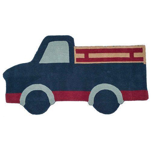 Safavieh Martha Stewart Becker Blue Truck Rug