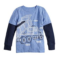 Boys 4-12 Jumping Beans® Thermal Mock Layer Dump Truck Graphic Tee