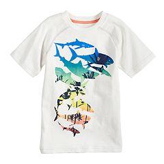 Boys 4-12 SONOMA Goods for Life™ Colorblock Tropical Sharks Raglan Graphic Tee