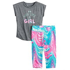 Toddler Girl Under Armour Win Like a Girl Tee & Leggings Set