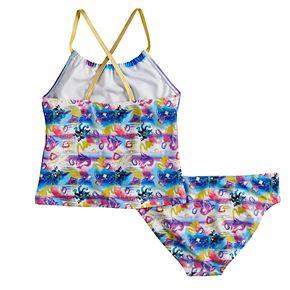Disney's Descendants Girls 5-7 Tankini Top & Bottoms Swimsuit Set