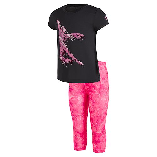 Toddler Girl Under Armour Dance Tee & Tie-Dye Leggings Set