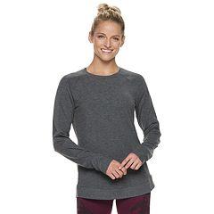 Women's Tek Gear® Shirttail Ribbed Long Sleeve Top