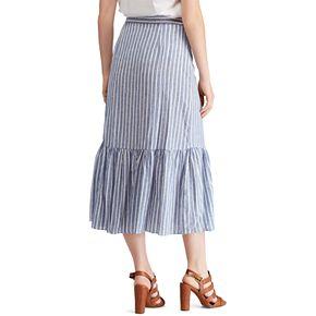 Women's Chaps Striped Wrap Midi Skirt