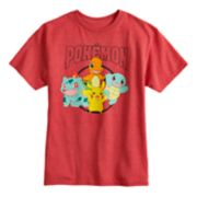 Boys 8-20 Pokemon Group Graphic Tee
