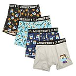 Boys 6-12 Minecraft 4-Pack Boxer Briefs