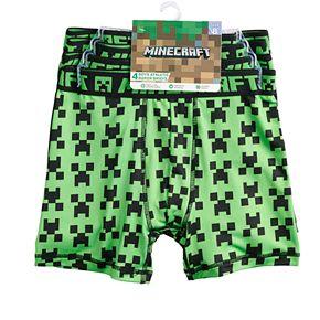 Boys 6-12 Minecraft Creeper 4-Pack Boxer Briefs
