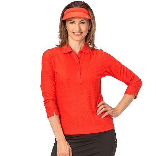 Women's Nancy Lopez Grace 3/4 Sleeve Golf Polo