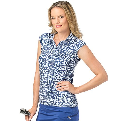 Women's Nancy Lopez Native Print Sleeveless Golf Polo
