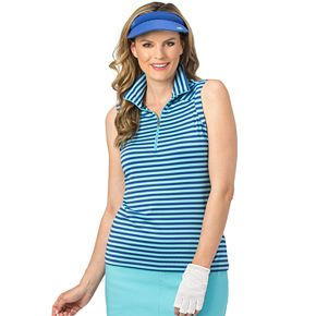 Women's Nancy Lopez Flight Striped Sleeveless Polo