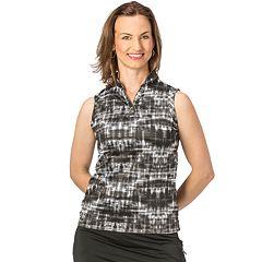 Women's Nancy Lopez Random Print Sleeveless Golf Polo