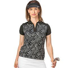 Women's Nancy Lopez Race Striped Golf Polo