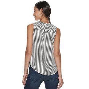 Women's Apt. 9® Tie-Front Sleeveless Blouse