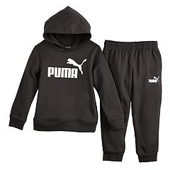 f6815e5743a5 Boys 4-7 PUMA Logo Hoodie   Jogger Pants Set. Charcoal Heather Black Light Heather  Gray