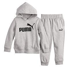 Boys 4-7 PUMA Logo Hoodie & Jogger Pants Set
