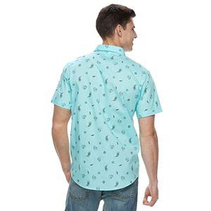 Men's Geo-Print Button-Down Shirt